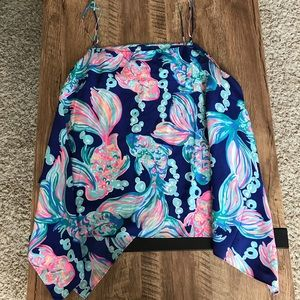 Lilly Pulitzer Going Coastal 100% Silk Top